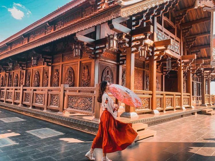check-in chùa khải đoan